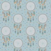 Lewis & Irene To Catch a Dream - 5026 - Dream Catchers on Duckegg Blue - A172.3 - Cotton Fabric